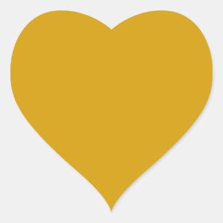 Pegatina anaranjado del corazón