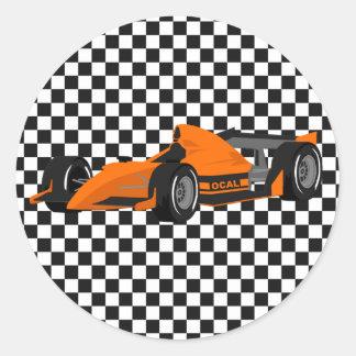 Pegatina anaranjado del cumpleaños del coche de