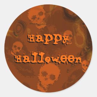 """Pegatina anaranjado del """"feliz Halloween"""" de los"""