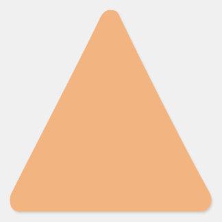 Pegatina anaranjado   en colores pastel del