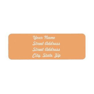 Pegatina anaranjado   en colores pastel del remite etiqueta de remitente