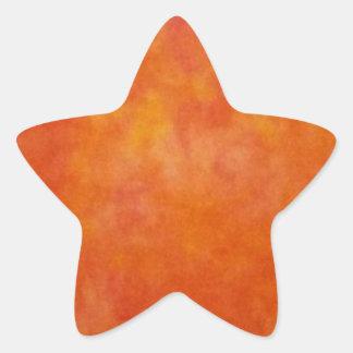 Pegatina anaranjado nublado