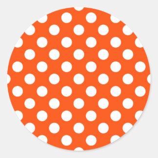 Pegatina anaranjado y blanco del lunar