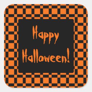 Pegatina anaranjado y negro de Halloween