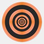 Pegatina anaranjado y negro de la blanco