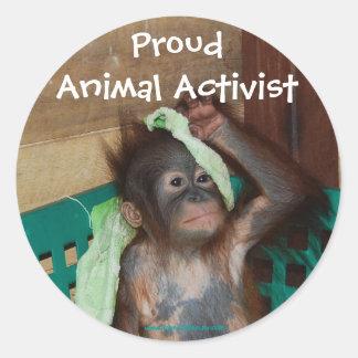 Pegatina animal del activista