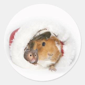 Pegatina animal del navidad