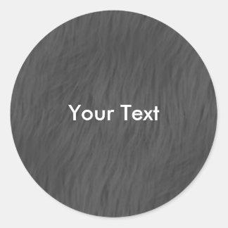 Pegatina animal gris de la piel del personalizar