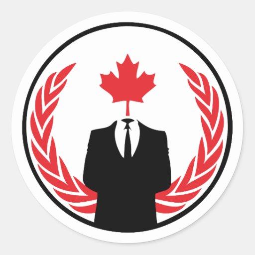 Pegatina anónimo de Canadá