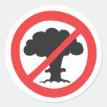 Pegatina anti de las armas nucleares