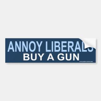pegatina anti de los armas de los liberales de Oba Etiqueta De Parachoque