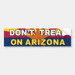 "pegatina anti de Obama ""no pise en Arizona"" Etiqueta De Parachoque"
