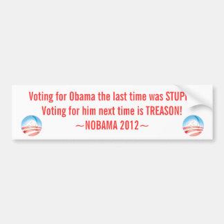 Pegatina anti de Obama, NOBAMA 2012, Pegatina Para Auto