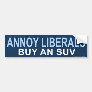 pegatina anti de SUV de los liberales de Obama mo Etiqueta De Parachoque
