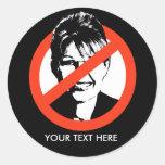 Pegatina Anti-Palin/texto de encargo