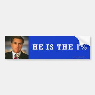 Pegatina Anti-Romney el 1% Pegatina Para Auto