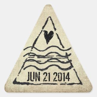 Pegatina anticuado del sello del pasaporte