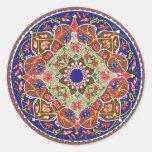 Pegatina antiguo del diseño de Tadjik