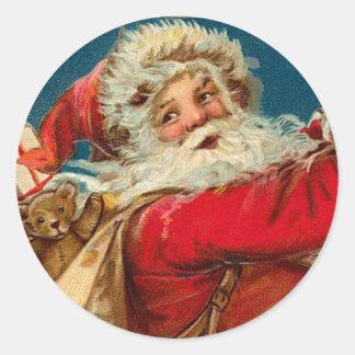 Pegatina antiguo del navidad de Santa