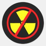 Pegatina antinuclear del símbolo