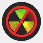 Pegatina antinuclear del símbolo del Grunge de