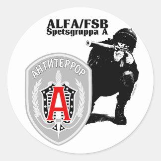 Pegatina Antiterror del grupo de la ALFA de Spezna