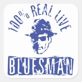Pegatina apenado Bluesman vivo real