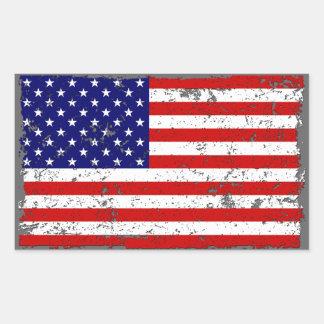 Pegatina apenado de la bandera americana