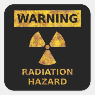 Pegatina apenado del peligro de radiación