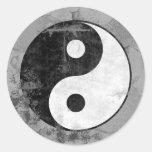 Pegatina apenado del símbolo de Yin Yang