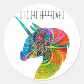 Pegatina aprobado del unicornio