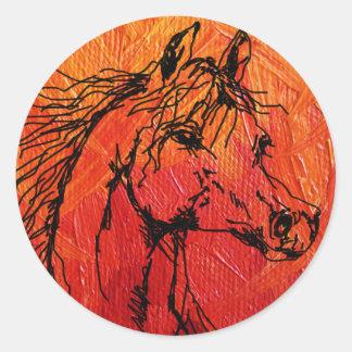 Pegatina ardiente del caballo
