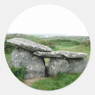 Pegatina arqueológico formado altar de Irlanda de