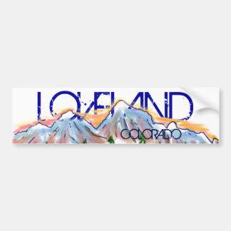 Pegatina artístico de la montaña de Loveland Pegatina Para Auto