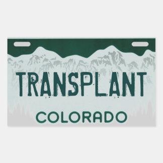 Pegatina artístico de la placa del trasplante de