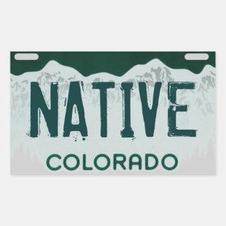 Pegatina artístico nativo de la placa de Colorado