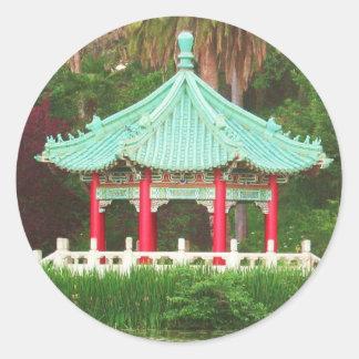 Pegatina asiático de la pagoda