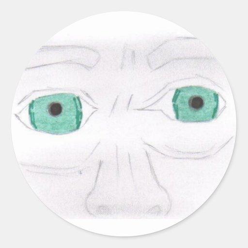 Pegatina asustado de los ojos