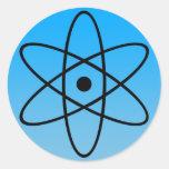 Pegatina atómico del símbolo