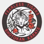 Pegatina audaz del logotipo del karate de Shotokan