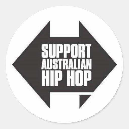Pegatina australiano del hip-hop de la ayuda