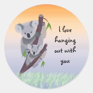 Pegatina australiano lindo del oso de koala