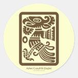 Pegatina azteca de Cuauhtli - de Eagle (Brown)