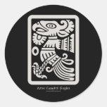 Pegatina azteca de Cuauhtli - de Eagle (masilla)