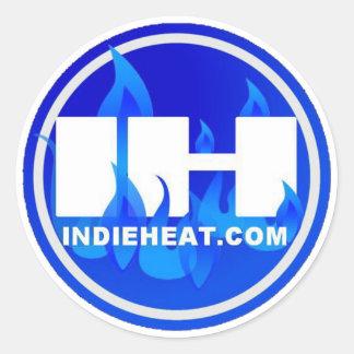 pegatina azul/blanco de Indieheat.com