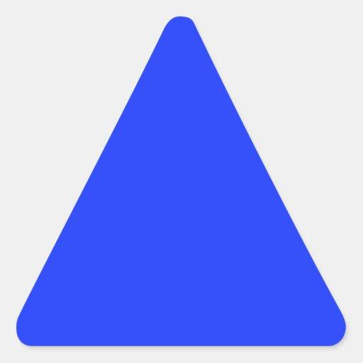 Pegatina azul brillante del triángulo