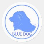Pegatina azul de Demócrata del perro