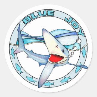 Pegatina azul de la alegría