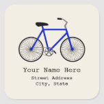 Pegatina azul de la dirección de la bicicleta