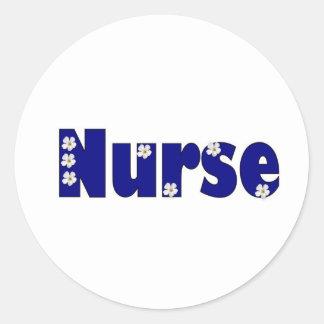 Pegatina azul de la enfermera